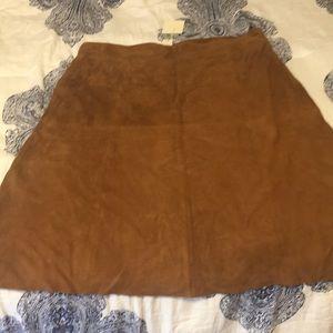 Talbots genuine suede skirt NWT